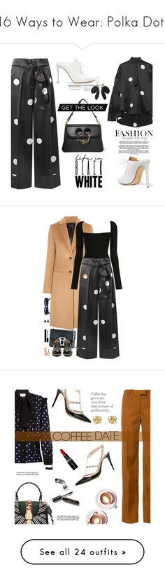 """16 Ways to Wear: Polka Dots"" by polyvore-editorial ❤ liked on Polyvore featuring PolkaDots, Petar Petrov, Francesco Russo, Marni, J.W. Anderson, Joseph, Proenza Schouler, N°21, Stila and Gucci"
