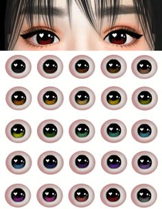 Anime-Inspired Contact Lenses for The Sims 4 Sims 4 Teen, Sims Four, Sims 4 Toddler, Sims 4 Mods, Sims 4 Game Mods, The Sims 4 Pack, Sims 4 Cc Packs, Sims 4 Cc Eyes, Sims 4 Mm Cc