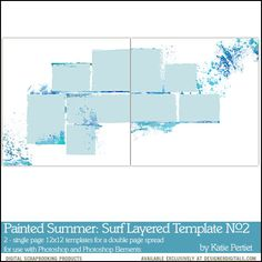 Painted Summer: Surf Layered Templates No. 02