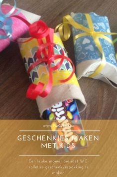 Cadeauverpakking maken met kids - knutselen met wc rolletjes Personalized Products, Little Darlings, Color Theory, Own Home, Art Lessons, Stress, Inspiration, Blog, Kids