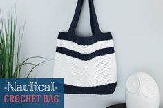It's officiallyspring and to celebrate I have a new crochet bag pattern to share! This bag is designed with 100% cotton yarn which makes it lightweight and perfect for the fast approaching warm weather. The color contrast of white and navygive thisbag a nautical feel soit's perfect for the boat or day at the beach! …