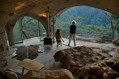Lionel Buckett's cave house in Berambing in the Blue Mountains.