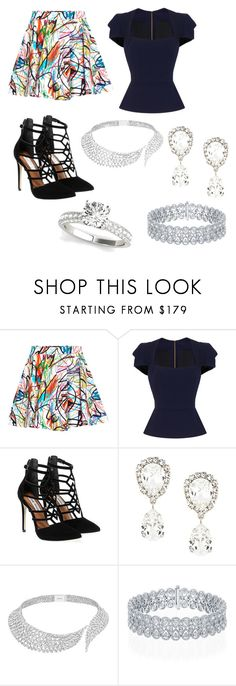 """""""Show Your Artistic Side"""" by tifflasage ❤ liked on Polyvore featuring Jeremy Scott, Roland Mouret, Steve Madden, Dolce&Gabbana and Messika"""