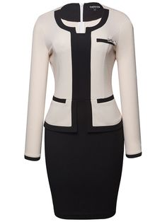 Best 12 Asymmetric Neck Decorative Hardware Color Block Bodycon Dress Asymmetric Neck Decorative Hardware Color Block Bodycon […] The post Asymmetric Neck Decorative Hardware Color Block Bodycon Dress appeared first on How To Be Trendy. Office Outfits, Chic Outfits, Dress Outfits, Casual Dresses, Work Dresses For Women, Suits For Women, Clothes For Women, Latest African Fashion Dresses, Women's Fashion Dresses