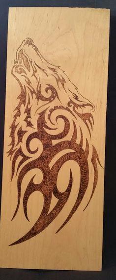 Tribal Wolf bois érable par TooOldCrows sur Etsy
