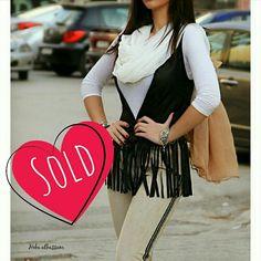 S O L D  O U T   | Reine |  +962 798 070 931 ☎+962 6 585 6272  #Reine #BeReine #ReineWorld #LoveReine  #ReineJO #InstaReine #InstaFashion #Fashion #Fashionista #FashionForAll #LoveFashion #FashionSymphony #Amman #BeAmman #Jordan #LoveJordan #ReineWonderland #Modest #Vest #Fringe #Leather #LeatherVest