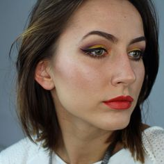 """Some more details for you guys ! Eyes: @anastasiabeverlyhills #artistpalette using dusty rose, aubergine, phresh, orange you fancy & baby I'm a star, @tartecosmetics #tarteistliner and @benefitcosmetics #rollerlashmascara  Eyebrows: @anastasiabeverlyhills dip brow in dark brown  Brushes: @morphebrushes"" Photo taken by @paulina_allure on Instagram, pinned via the InstaPin iOS App! http://www.instapinapp.com (06/02/2015)"