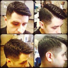 Hidden hard part for versatility. Men's Haircuts, Men's Hairstyles, Haircuts For Men, Mens Wedding Hairstyles, Hard Part Haircut, Love Hair, Wedding Men, Gentleman, Hair Cuts