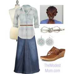 The Country Girl - The Modest Mom by deborah-and-co on Polyvore featuring maurices, Skechers, Mudd, H&M, Monday, INC International Concepts and country