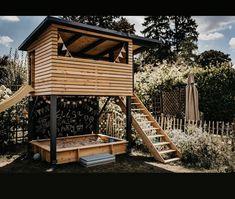 Backyard Fort, Backyard House, Backyard Playground, Backyard For Kids, Backyard Projects, Outdoor Projects, Backyard Landscaping, Kids Outdoor Play, Tree House Designs