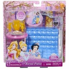 Disney Princess Royal Patio by Mattel. $12.99. Recreate your favorite Disney Princess fairytales. Collect and connect all rooms to create the ultimate royal kingdom. Girls can add even more fairytale fun to their Royal Castle. Great addition to any girls collection. Royal fun and fairytale play all in one. From the Manufacturer                Disney Princess Royal Room Collection: Girls can add even more fairytale fun to their Royal Castle with the three Royal Rooms i...
