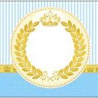 Convite, Moldura e Cartão Coroa Príncipe: