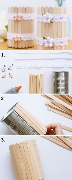 36 Trendy Ideas Diy Wood Crafts To Sell Popsicle Sticks Tin Can Crafts, Diy Home Crafts, Wood Crafts, Crafts For Kids, Diy Wood, Easy Crafts, Pallet Crafts, Homemade Crafts, Creative Crafts