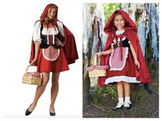 Mother Daughter Matching Little Red Riding Hood Costumes