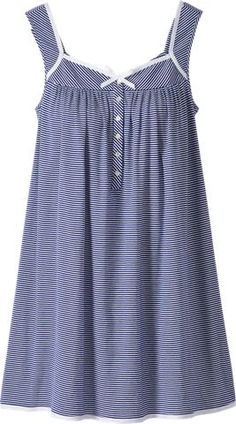 Our Eileen West lightweight nautical stripe chemise offers the perfect summery feel. Add this cotton knit night dress to your summer sleepwear wardrobe. Cotton Sleepwear, Sleepwear Women, Kinds Of Clothes, Clothes For Women, Night Gown Dress, Nightgown Pattern, Casual Dresses, Fashion Dresses, Muslim Women Fashion