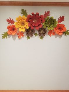 Fall paper flowers😉 Seasonal Colors🍃🍂🍃🍂 Paper Flower Wreaths, Paper Flower Decor, Paper Flower Backdrop, Flower Crafts, Flower Decorations, Colour Paper Flowers, Paper Flower Patterns, Paper Centerpieces, Thanksgiving Flowers
