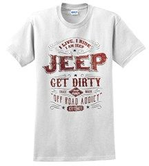 Jeep Trademark Label Men's T-Shirt in White All Things Jeep