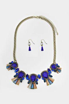 Crystal Valencia Necklace in Royal