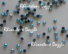 ss16 Aqua AB Crystal Flatback Hotfix Rhinestones, 4mm Hotfix Aqua AB Crystal Rhinestones
