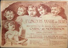 VAUD LAUSANNE 1er concours annuel de bébés Casino de Montbenon EN 1919 Lausanne, Les Oeuvres, Europe, Movies, Movie Posters, Yearly, Pageants, Posters, Childhood
