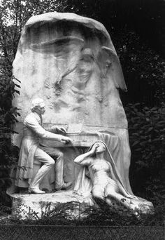 Frédéric Chopin. Chopin's Monument in Park Monceau in Paris