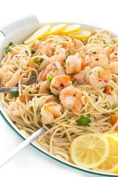 An authentic Italian recipe with fragrant garlic shrimp and an easy white wine butter scampi sauce. 15 minutes to make it!