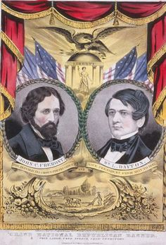1856 Republican Presidential Campaign Poster. - #history #politics