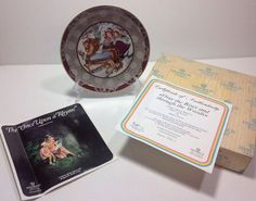VILLEROY BOCH Once Upon A Rhyme Over The River & Thru the Woods Plate Box COA
