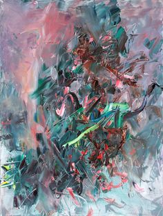 Chen Ping - Rainbow, Peacock, Falling Flowers, 2011. Oil on Canvas
