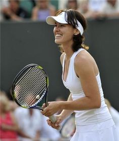 Martina Hingis - she just never got used to the power game. A definite finesse player