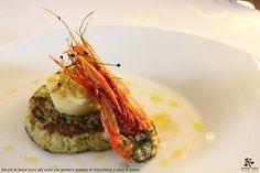 Dariole di pesce burro agli aromi con gambero scottato al finocchietto e salsa di limone - Spirito Mediterraneo Modica