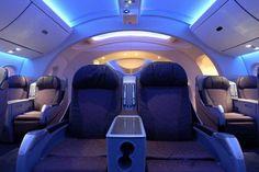 Boeing 787 Dreamliner Interior View