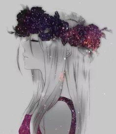 Картинки по запросу anime girl galaxy
