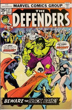 Defenders 21  March 1975 Issue  Marvel Comics  Grade VG