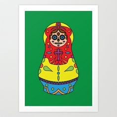 Sugar Matrioshkas #1 Art Print by Filipa Amado - $13.48