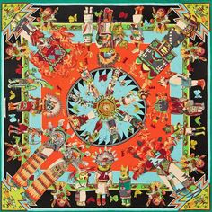 Hermes scarf:  Another Kachinas dolls inspired design by Kermit Oliver - The Independent