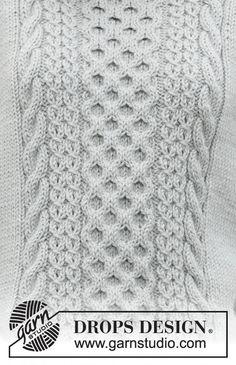 Drops Design, Easy Blanket Knitting Patterns, Knit Patterns, Stitch Patterns, Pull Torsadé, Drops Patterns, Crochet Diagram, Free Knitting, Finger Knitting