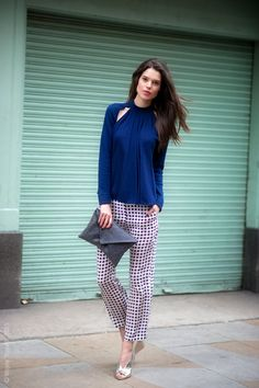 Sarah Ann Macklin that outfit is a corker.  #offduty in her JW Anderson pants and top. London. #WayneTippetts