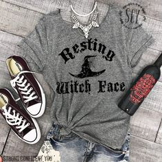 Etsy Resting Witch Face Halloween Tee Shirt (affiliate)