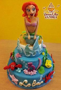 Little Mermaid cake - Torta la Sirenetta