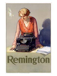 Affiches anciennes machine à écrire