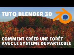 Tuto Blender 3d - Comment créer une forêt avec le système de particule