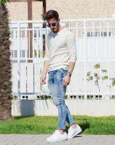 Outfit Men, Fashion Men, Men Style, Zara, jeans look, white shoes - www.rodrigoperek.com