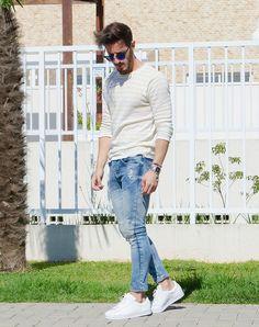 Outfit Men, Fashion Men, Men Style, Zara, jeans look, white shoes - www.rodrigoperek.com