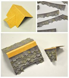 Tips on using the roof die-cut from Tim Holtz