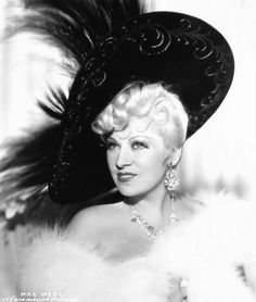 Mae West old time movie star found on nature boy - Lunawoman