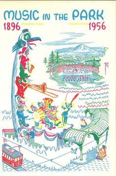 Music in the Park program, 1956 by Seattle Municipal Archives, via Flickr