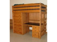 Photo of Loft Bed L22 with Early American Stain (no lacquer)