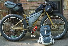 Surly Pugsley with a full Bikepacking load.... I can see another fat bike looking like this...