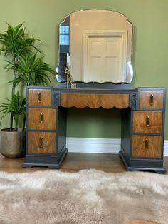Art Deco Desk, Art Deco Vanity, Art Deco Mirror, Vanity Decor, 1920s Dressing Table, Bedroom Dressing Table, Dressing Room, 1930s Bedroom, Art Deco Bedroom